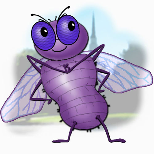 Purple Fly Character
